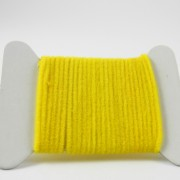 Chenille velours jaune-06
