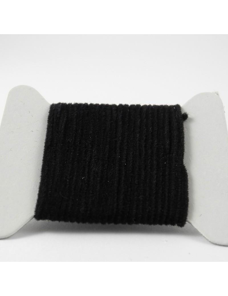 Chenille velours noire 2