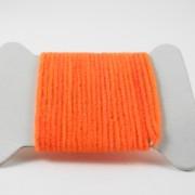 Chenille velours orange fluo-08