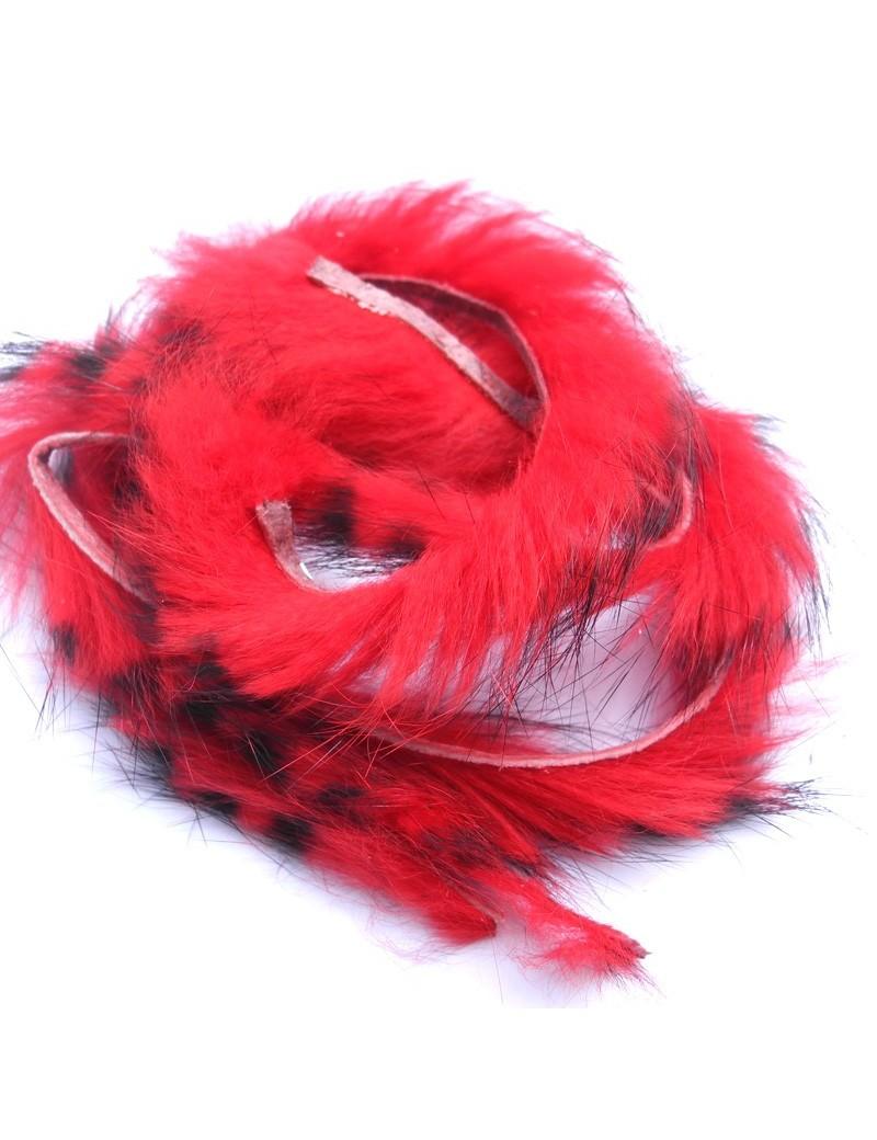 Bandelettes lapin zébrées rouge