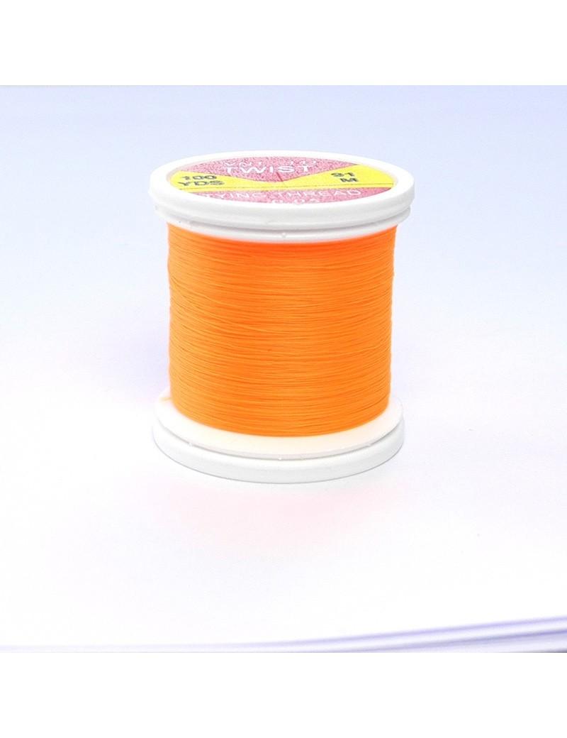 Fil de montage Twist orange fluo-111