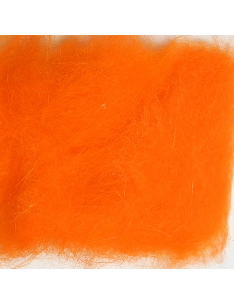 Dubbing de lapin orange fluo-07