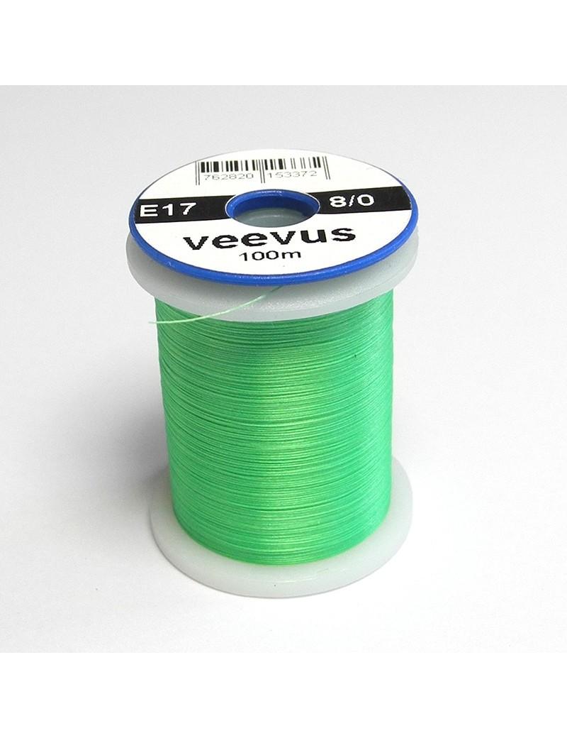 Fil de montage Veevus 8/0 vert fluo-17