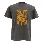 T-shirt SIMMS Catch & Release Charcoal Heather