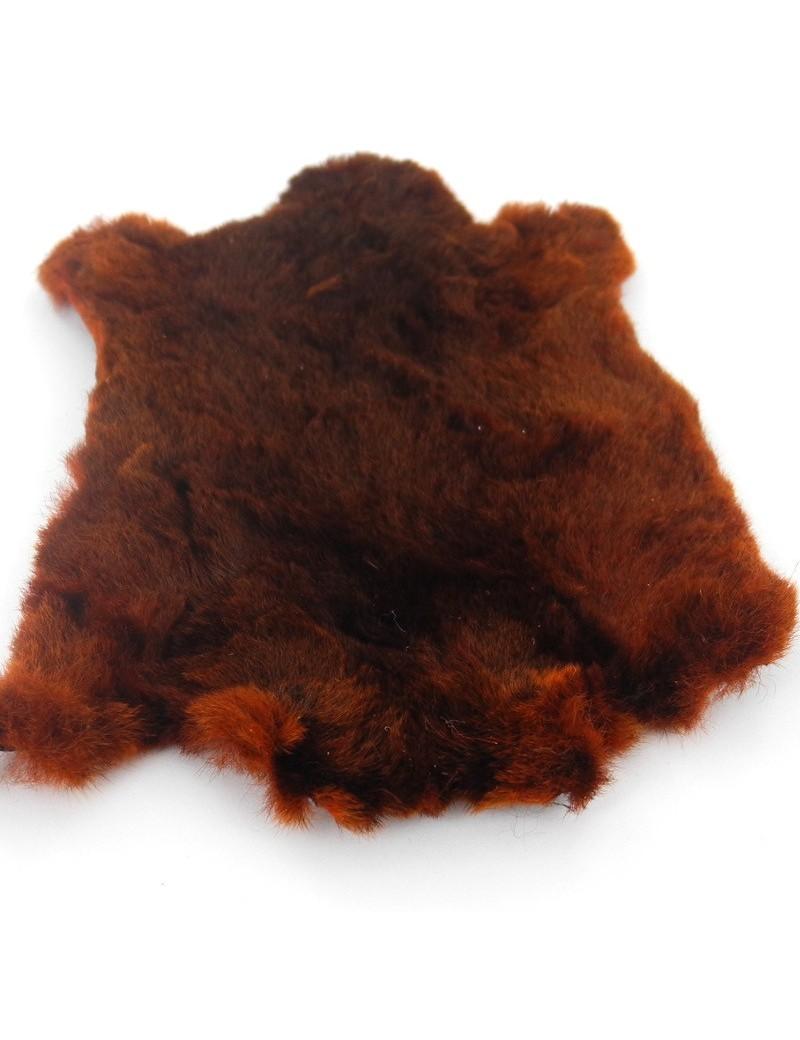 Poils de taupe sur peau brun roux