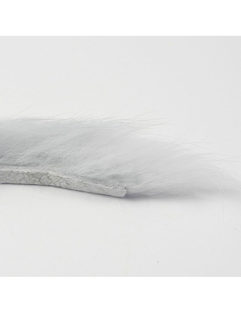 Bandelettes lapin gris bleuté