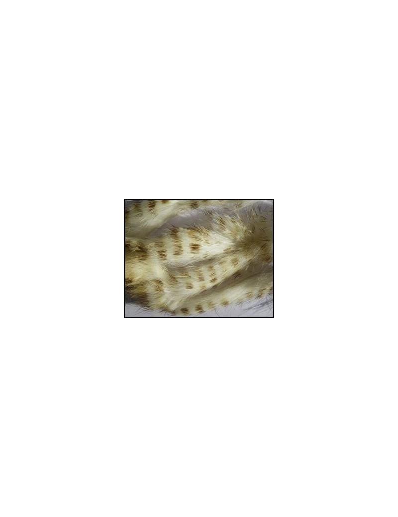 Bandelettes lapin zébrées blanc