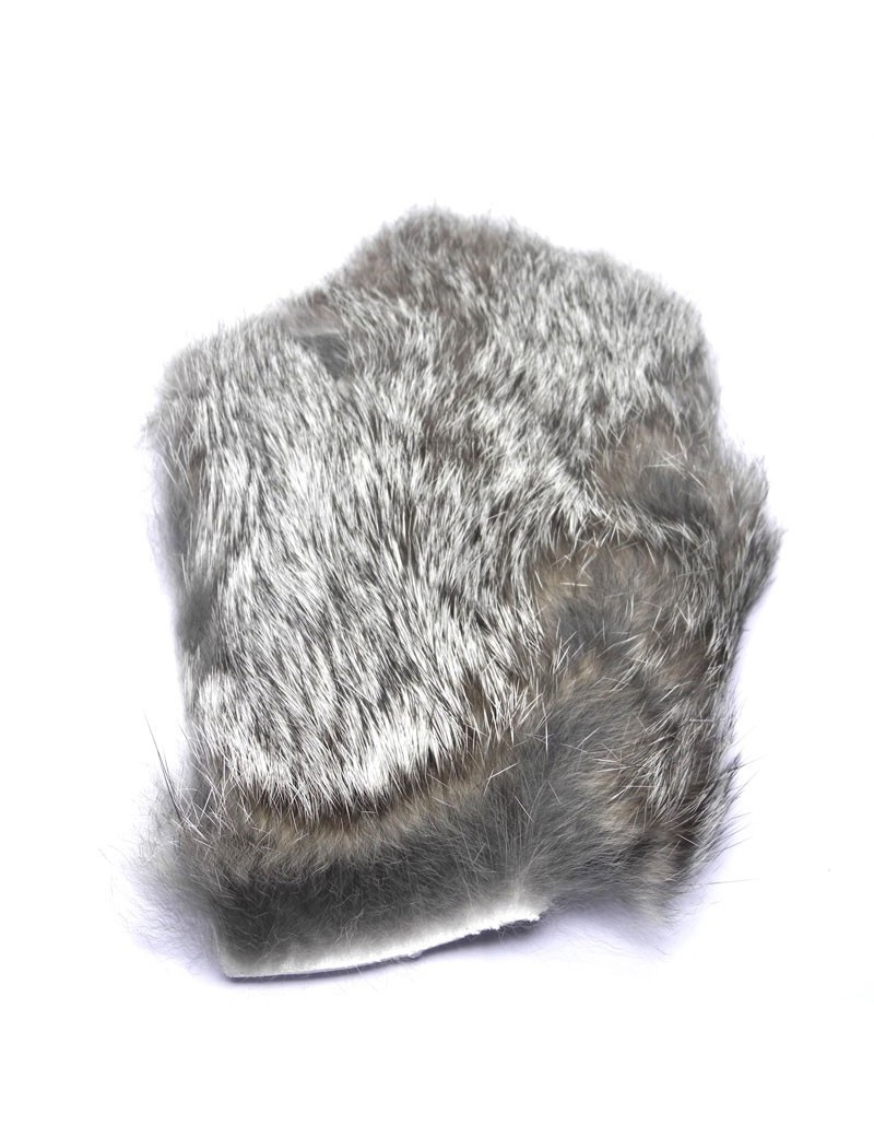 Poils de dos de lapin gris