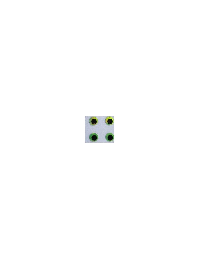 Yeux holographiques Vert irisé
