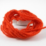 Chenille velours rouge foncé-08