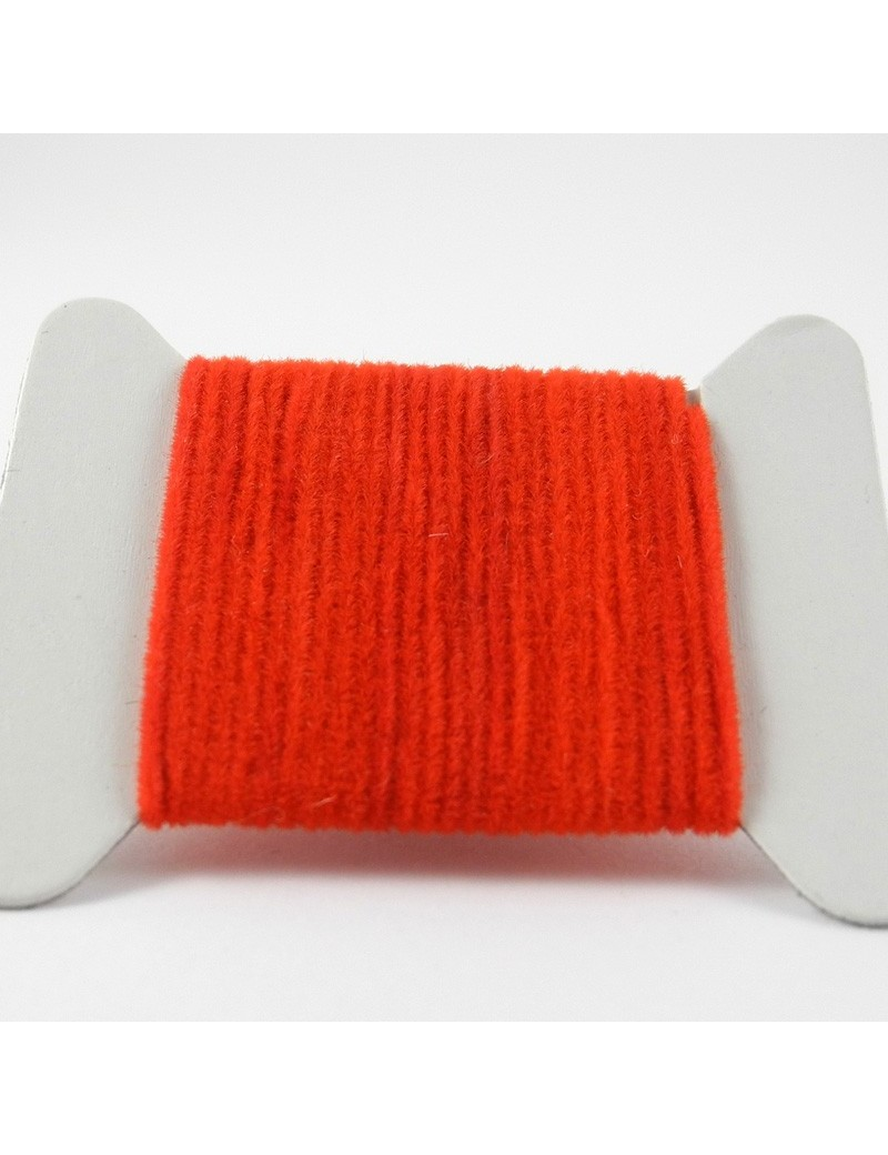 Chenille velours rouge-06