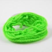 Chenille velours vert fluo-07