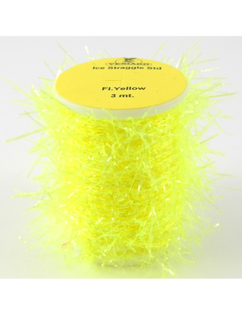 Chenille straggle UV jaune fluo