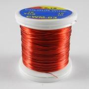 Fil de cuivre coloré rouge