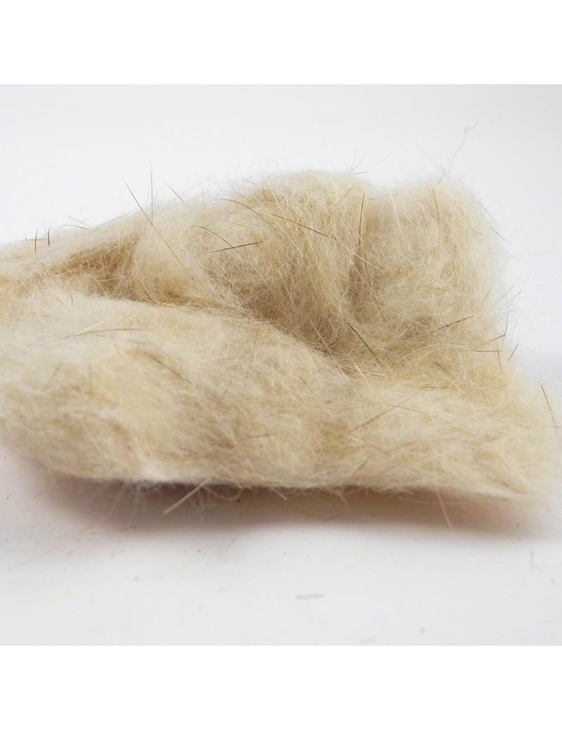 Dubbing rat musqué blanc cassé