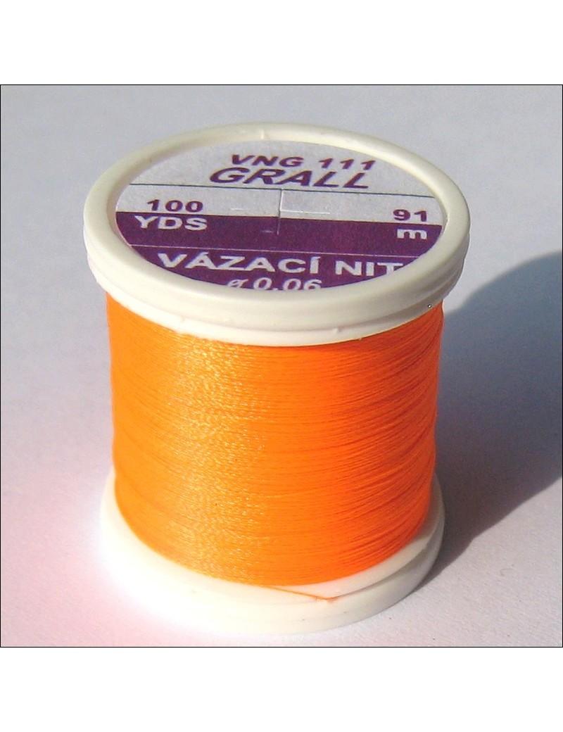 Fil de montage Grall orange fluo-111