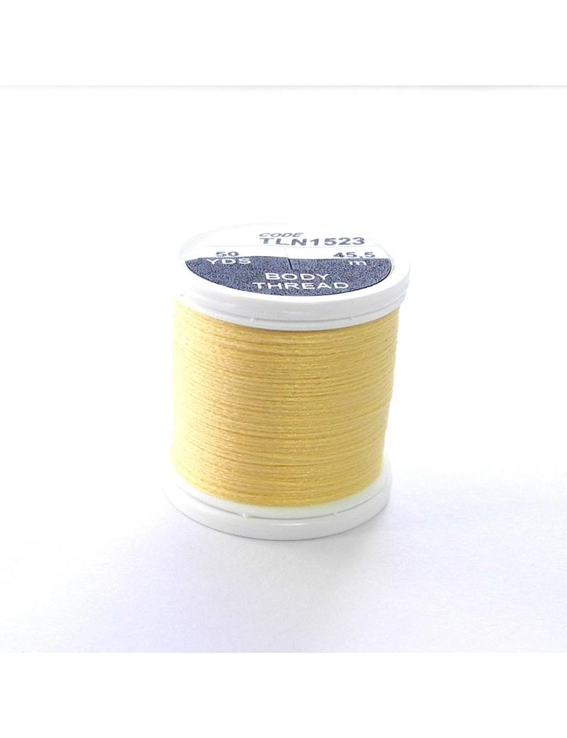 Soie Floss jaune crème-1523