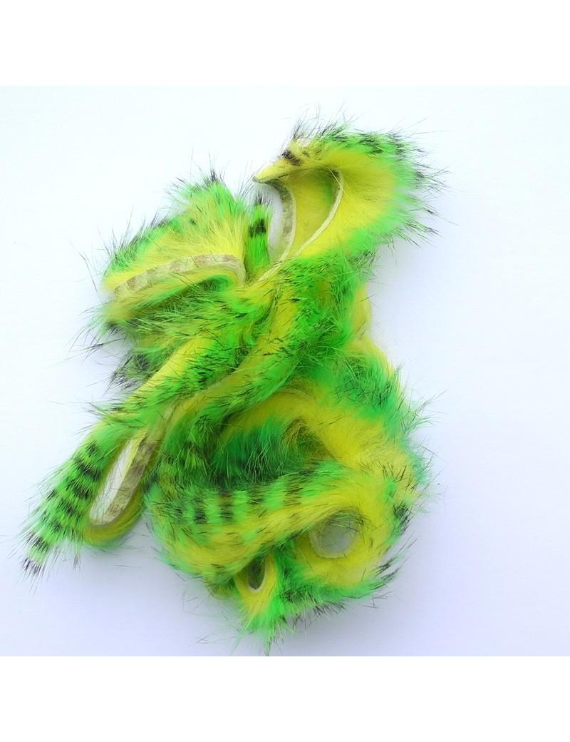 Bandelettes lapin zébrées chartreuse jaune