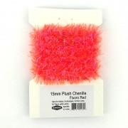 Chenille blob rouge orange fluo