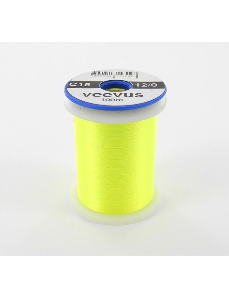 Fil de montage Veevus 12/0 jaune fluo-15