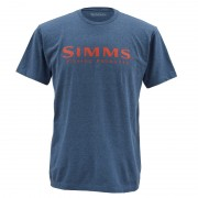 T-shirt SIMMS wordmark navy