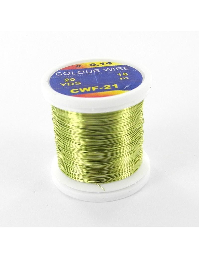 Fil de cuivre coloré Chartreuse-21