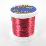 Fil de cuivre coloré rouge-rose-24