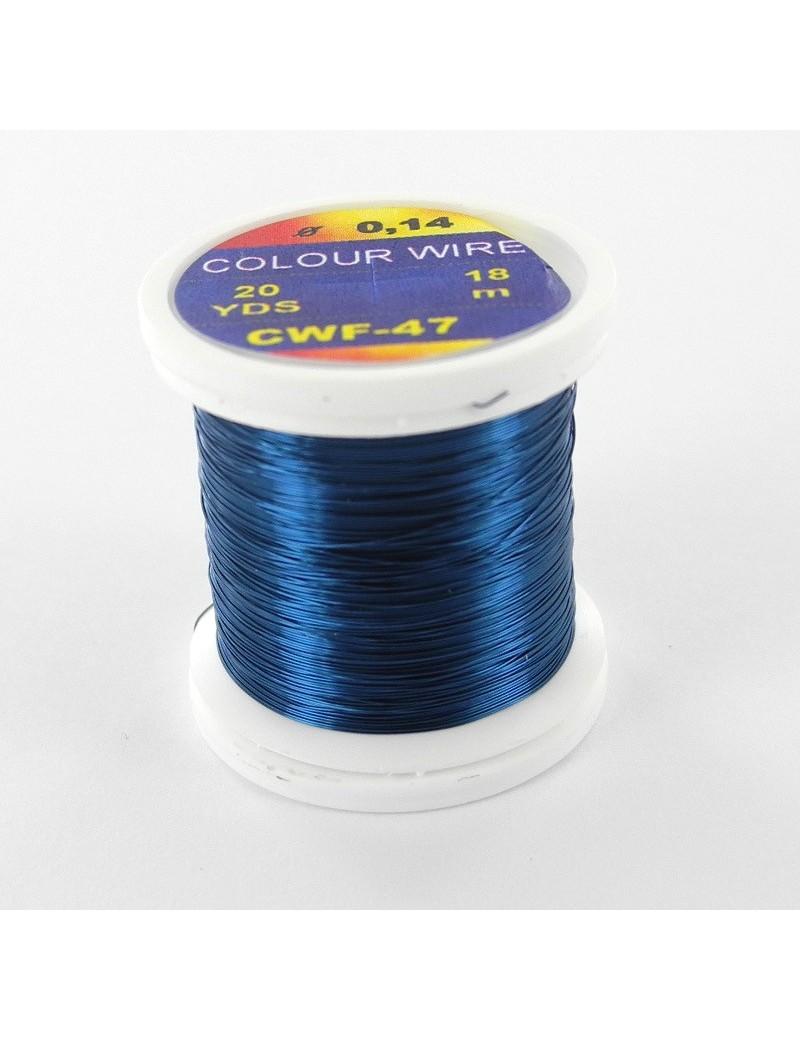 Fil de cuivre coloré bleu foncé-47