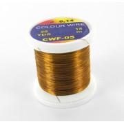 Fil de cuivre coloré brun orangé-05