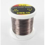 Fil de cuivre coloré brun gris-10