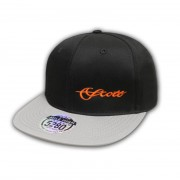 Casquette Scott snapback logo orange
