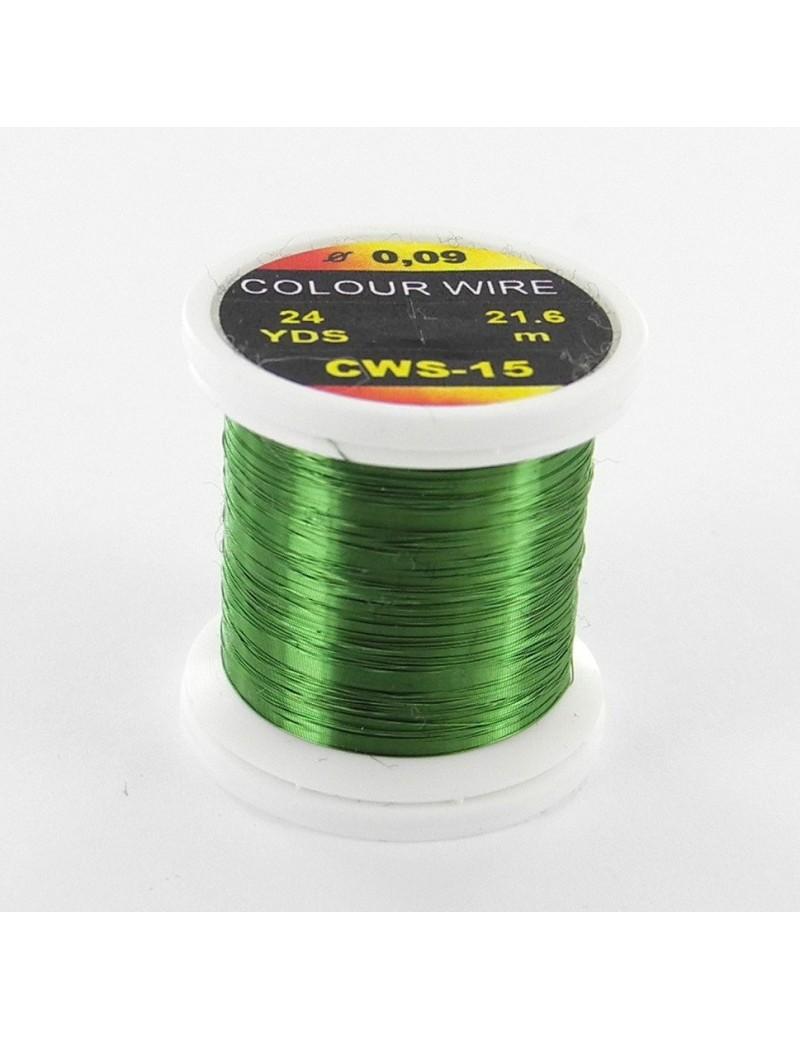 Fil de cuivre coloré Olive-15