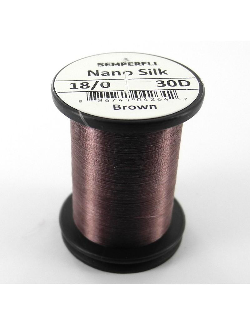 Semperfli nano silk 18/0 marron