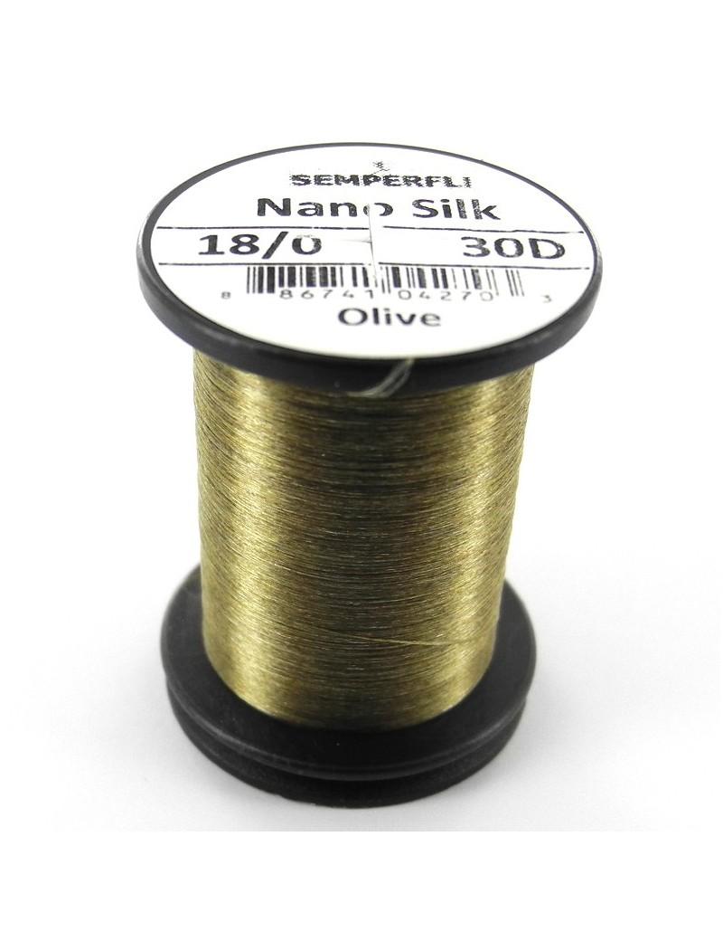 Semperfli nano silk 18/0 olive