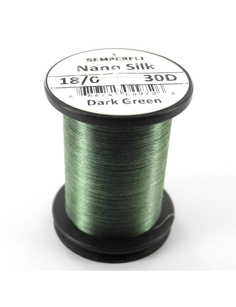 Semperfli nano silk 18/0 vert