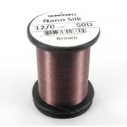 Semperfli nano silk 12/0 marron