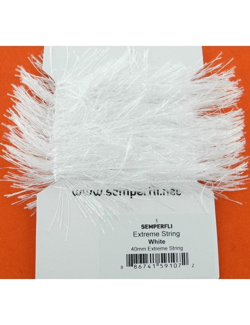 Chenille Extrême string blanche