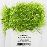 Chenille Extrême string chartreuse