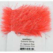 Chenille Extrême string rouge rose
