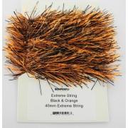 Chenille Etrême string noir/orange