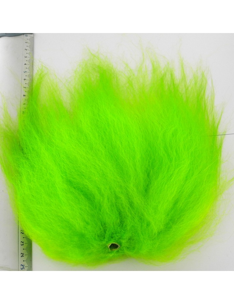 Streamer hair chartreuse