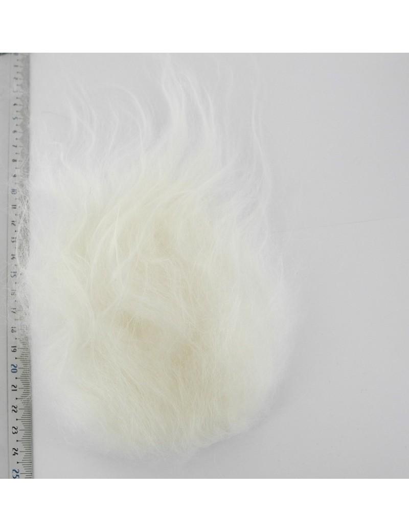Streamer hair blanc