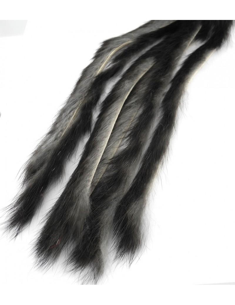 Bandelettes lapin Caleri 3mm gris foncé naturel