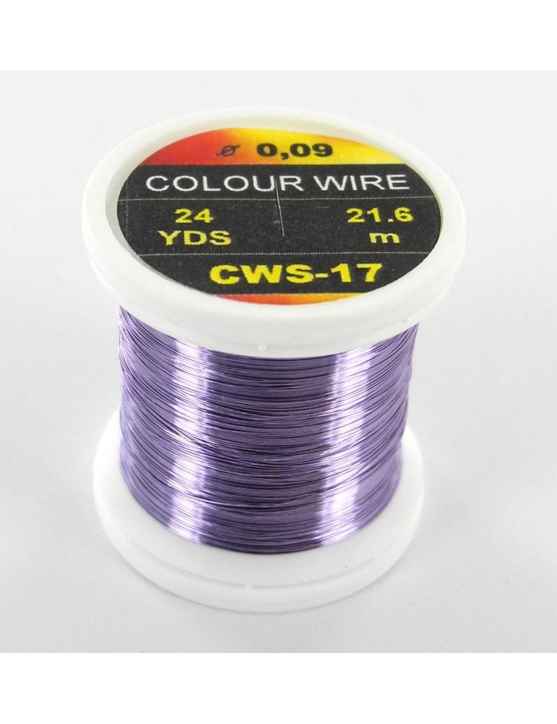 Fil de cuivre coloré violet-17