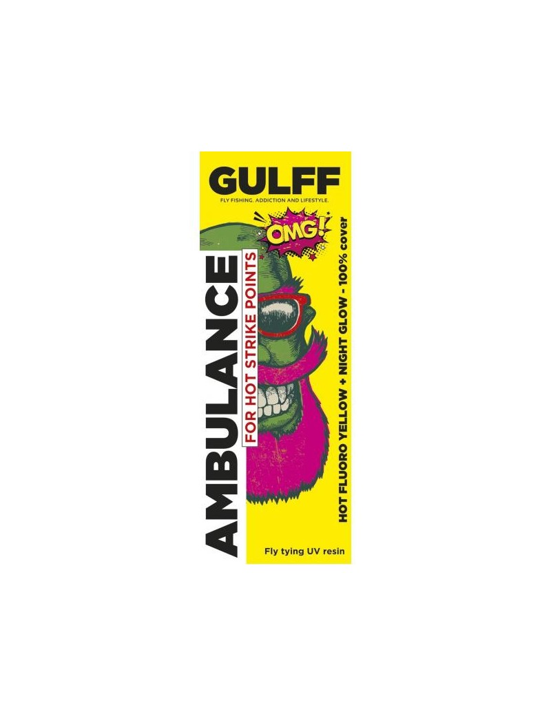 Résine UV Gulff fluoro jaune