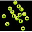 Billes tungstène fendues chartreuse clair