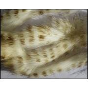 Bandelettes lapin zébrées blanc-3770