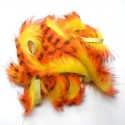 Bandelettes lapin zébrées jaune orange 01