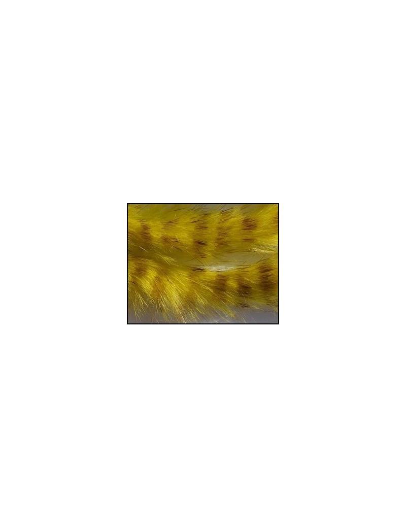 Bandelettes lapin zébrées olive clair