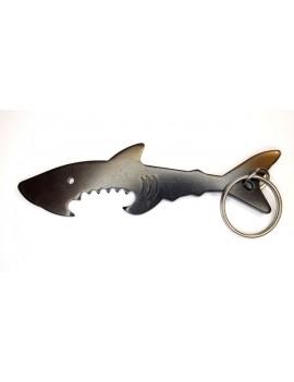PORTE-CLEF ET OUVRE BOUTEILLE SHARK
